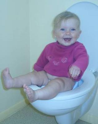 robin hagerty - baby on big toilet